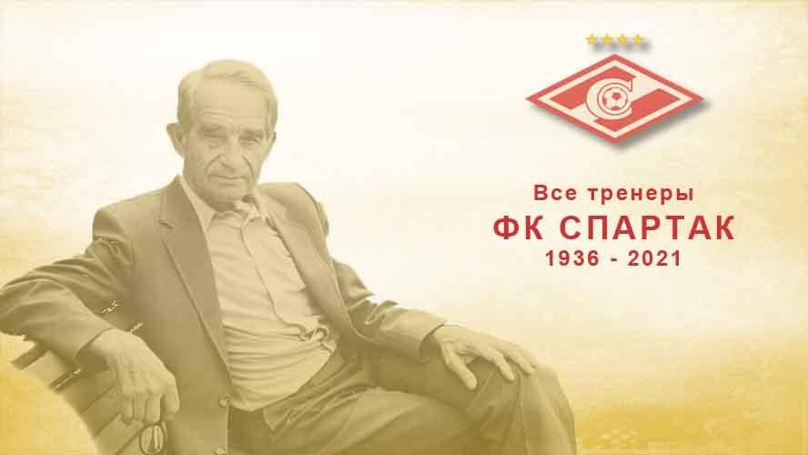 Все тренеры ФК Спартак с 1936 года